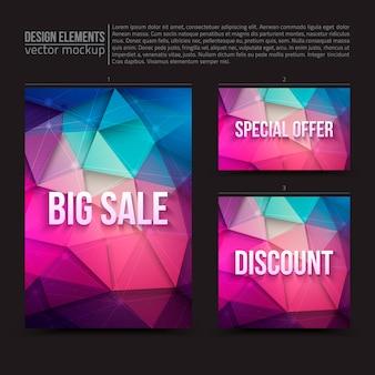 Modelos de vendas de panfletos de cartões