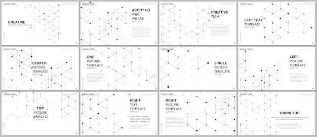 Modelos de vetor de design de apresentação