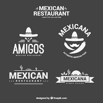 Modelos elegantes logotipo mexicano restaurante