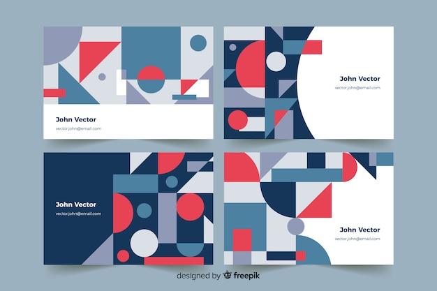 Modelos geométricos abstratos cartão de visita