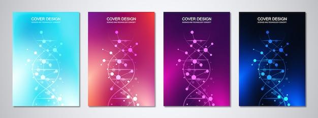 Modelos médicos para cobertura com padrão abstrato hexágonos. conceitos e idéias para médicos, tecnologia de saúde, medicina de inovação, ciência.