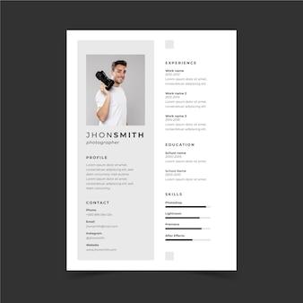Modelos minimalistas de cv