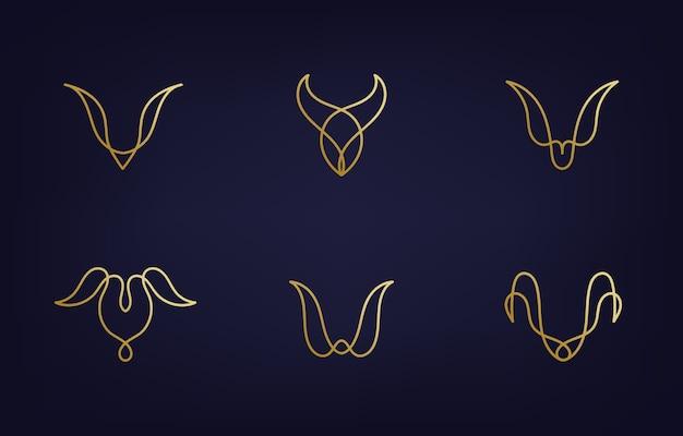 Modelos minimalistas de design de logotipo moderno