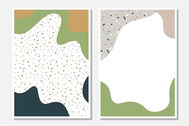 Modelos modernos com formas líquidas e textura de mosaico