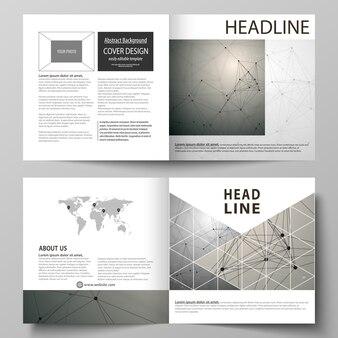 Modelos para brochura quadrada bifold