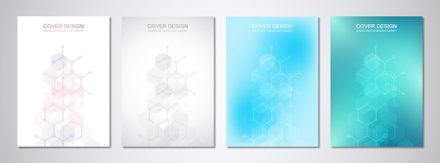 Modelos para capa com estruturas moleculares e engenharia química