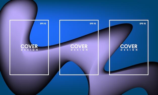 Modelos para capas abstratas, folhetos, banner e cartazes
