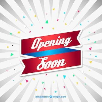 Modern abertura logo composição com design plano
