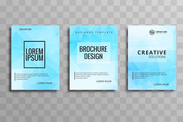 Modern blue buisness brochure template vector design