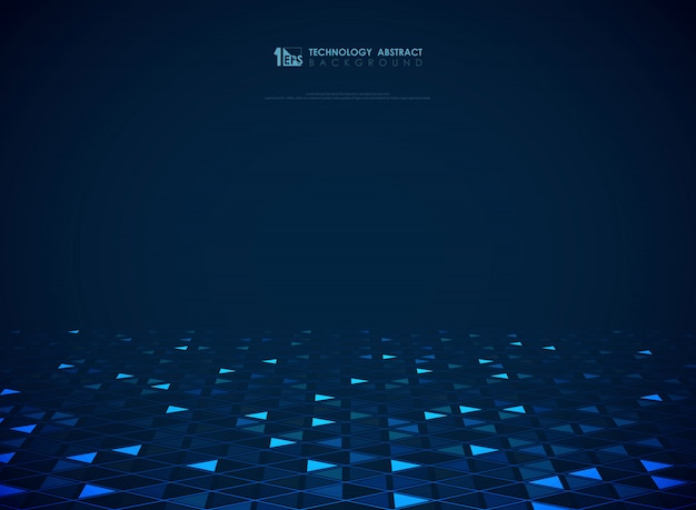 Modern blue technology triângulos fundo futurista