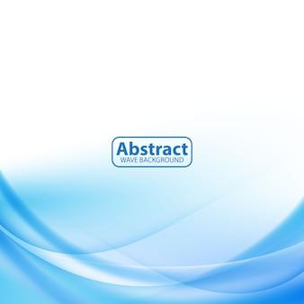 Modern blue wave design fundo abstrato suave