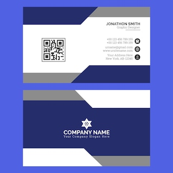 Modern business card template vetor premium