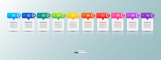 Modern business infográfico 10 passos