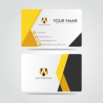 Modern bussines card amarelo escuro