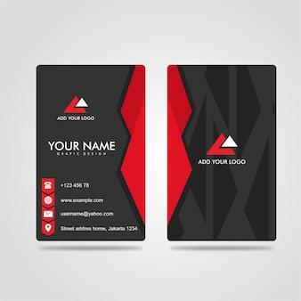 Modern bussines card vermelho escuro potrait