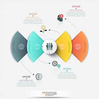 Modern circle business infographics elements