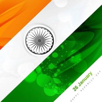 Modern design da bandeira indiana