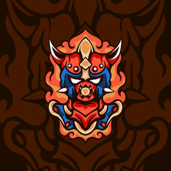Modern fire king para mascote de jogos