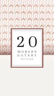 Modern gatsby patterns set coleção