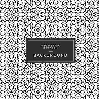 Modern geometric monochrome mandala padrão para papel de parede