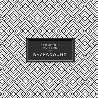 Modern geometric monochrome tile pattern para papel de parede