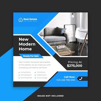 Modern home real estate instagram post template vector premium