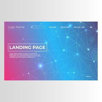 Modern landing page com design abstrato
