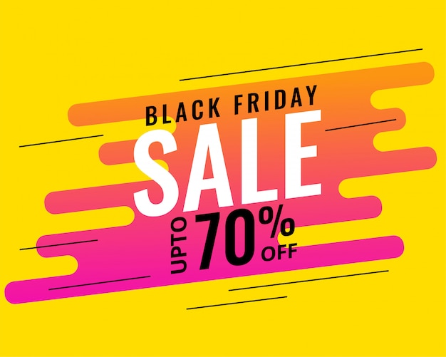 Modern memphis style black friday design de banner de venda