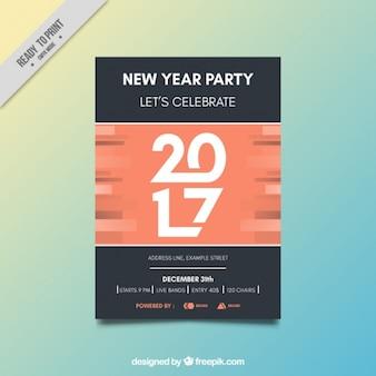 Modern nova brochura partido do ano