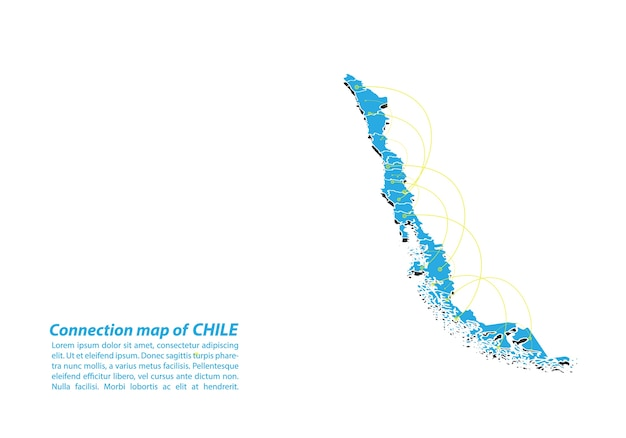 Modern of chile map conexões network design