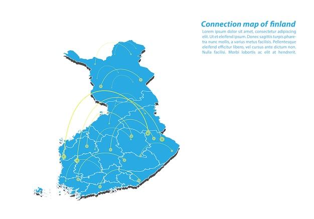 Modern of finland mapa conexões rede design