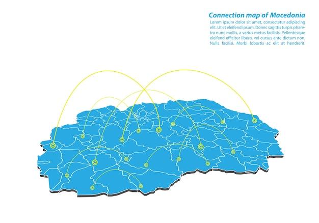Modern of macedonia mapa conexões rede design