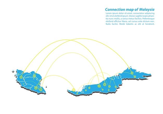 Modern of malaysia mapa conexões rede design