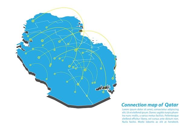 Modern of qatar mapear design de rede de conexões