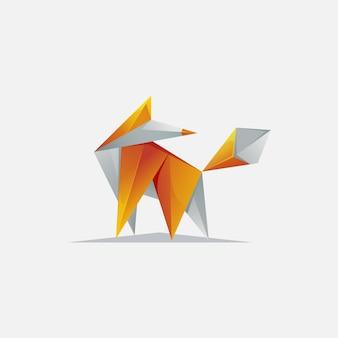 Modern pixel fox logo