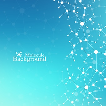 Modern structure molecule dna. átomo. molécula e fundo de comunicação para medicina, ciência, tecnologia, química. contexto médico-científico.