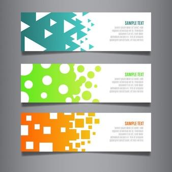 Modern web banners geométricas definido