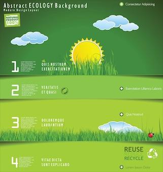 Modern web site nature design layout