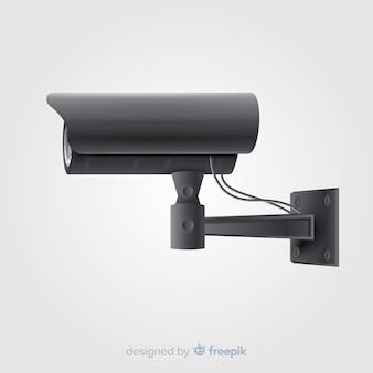 Moderna câmera de cctv com design realista