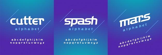 Moderna fonte abstrata alfabeto em minúscula itálico