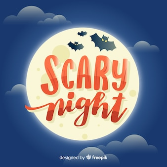 Moderna noite assustadora halloween letras