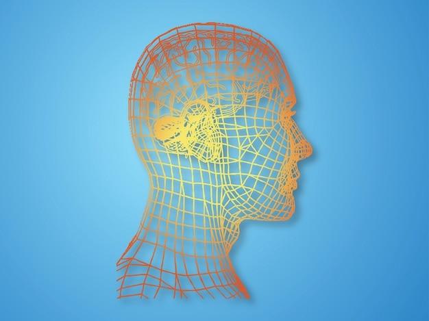Moderna psicologia facial características vector
