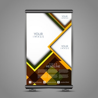 Moderna roll-up molde colorido banner stand
