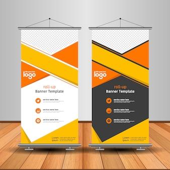 Moderno arregaçar banner com forma abstrata