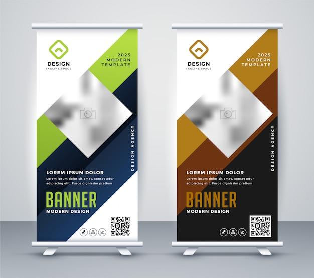 Moderno arregaçar banner de negócios de apresentação