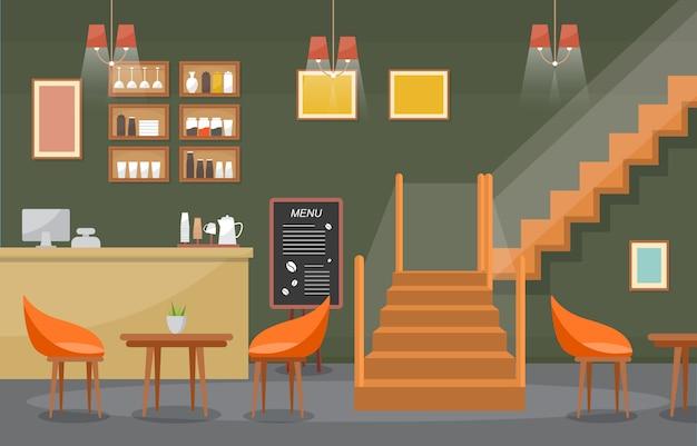 Moderno café cafeteria interior móveis restaurante