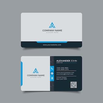 Moderno cartão de visita azul corporate professional