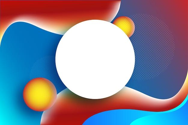 Moderno cool gradient warm colour background em vermelho laranja azul