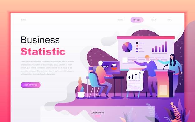 Moderno desenho plano de estatística de negócios