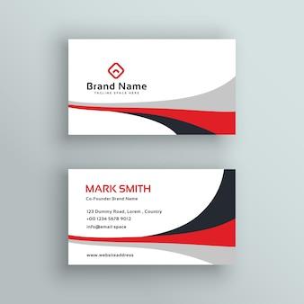 Moderno design de vetor de cartão de visita limpo